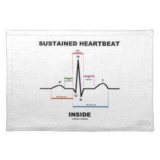 Sustained Heartbeat Inside (ECG/EKG) Cloth Placemat
