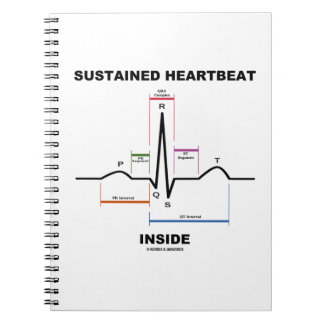 Sustained Heartbeat Inside (ECG/EKG) Spiral Note Books