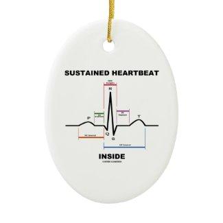 Sustained Heartbeat Inside (ECG/EKG) Christmas Ornament