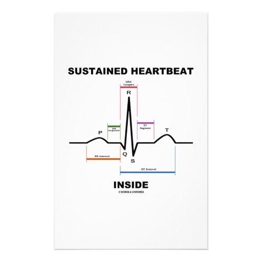 Sustained Heartbeat Inside (ECG/EKG) Custom Stationery