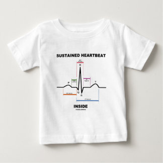 Sustained Heartbeat Inside (Electrocardiogram) Baby T-Shirt