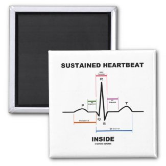 Sustained Heartbeat Inside (Electrocardiogram) Refrigerator Magnet