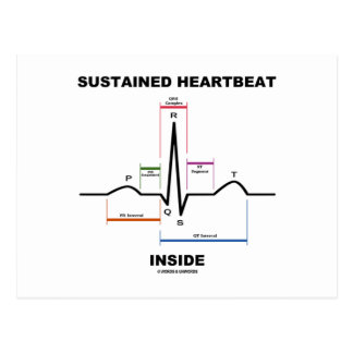 Sustained Heartbeat Inside (Electrocardiogram) Postcard