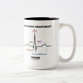 Sustained Heartbeat Inside (Electrocardiogram) Two-Tone Coffee Mug