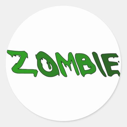 Sustancia pegajosa del zombi etiqueta redonda