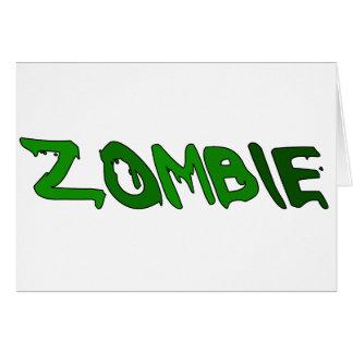 Sustancia pegajosa del zombi tarjetón