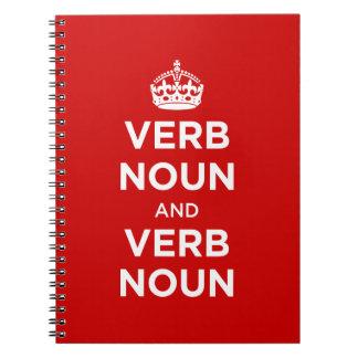 Sustantivo del verbo y sustantivo del verbo cuadernos