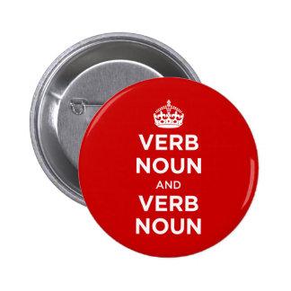Sustantivo del verbo y sustantivo del verbo pin redondo 5 cm