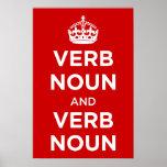 Sustantivo del verbo y sustantivo del verbo poster