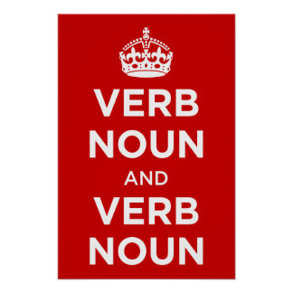 Sustantivo del verbo y sustantivo del verbo póster