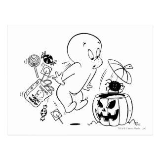 Susto de la araña de Casper Halloween Tarjeta Postal