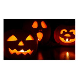 Susto de la calabaza de Halloween Tarjetas De Visita