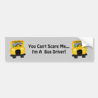 Susto del conductor del autobús (personalizable) etiqueta de parachoque