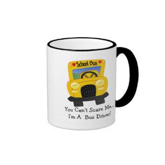 Susto del conductor del autobús (personalizable) taza de dos colores