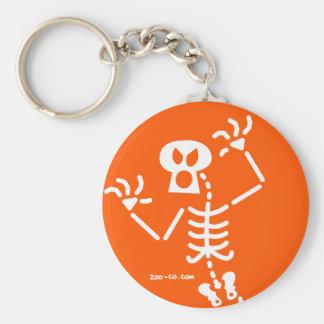 Susto del esqueleto llavero personalizado