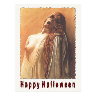 Susto fantasmagórico de la postal de Halloween