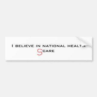 susto nacional 2 de la salud etiqueta de parachoque