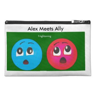 Susto sonriente de Alex y del aliado
