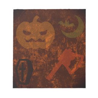 Sustos de Halloween en fondo misterioso Blocs