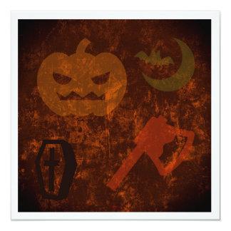 Sustos de Halloween en fondo misterioso Invitacion Personalizada