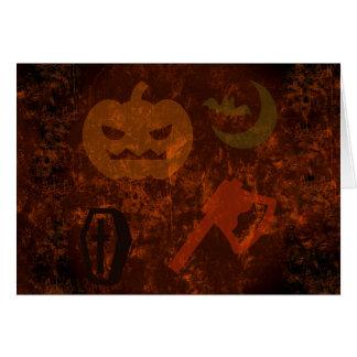 Sustos de Halloween en fondo misterioso Tarjeta Pequeña
