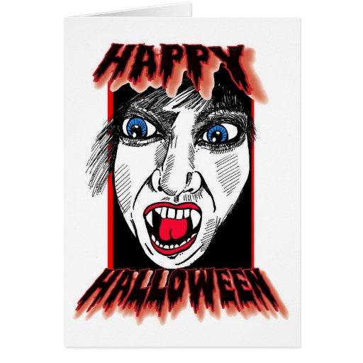 Sustos felices de Halloween Tarjeta De Felicitación
