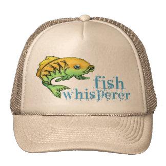 ¡Susurro a los pescados Gorra de la pesca del pes
