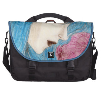 Susurro azul de la ninfa bolsas de portátil