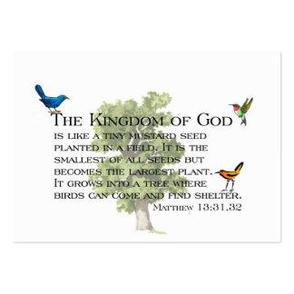 Susurros de la amabilidad y del reino tarjetas de visita grandes