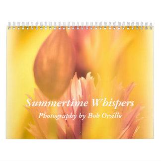 Susurros del verano calendario de pared