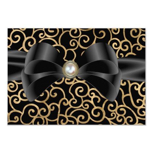 Susurros elegantes que casan la tarjeta de RSVP Invitación 8,9 X 12,7 Cm