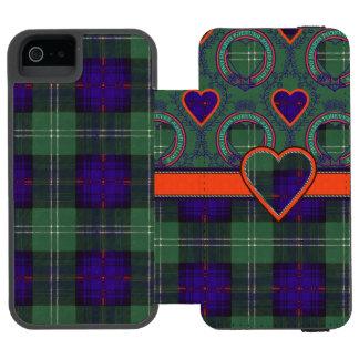 Sutherland Clan Plaid Scottish tartan Wallet Case For iPhone SE/5/5s