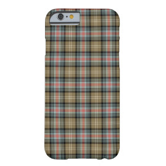 Sutherland Clan Tan and Black Tartan Barely There iPhone 6 Case