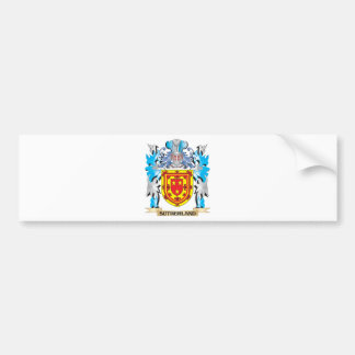 Sutherland Coat of Arms - Family Crest Car Bumper Sticker