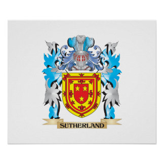 Sutherland Coat of Arms - Family Crest Print