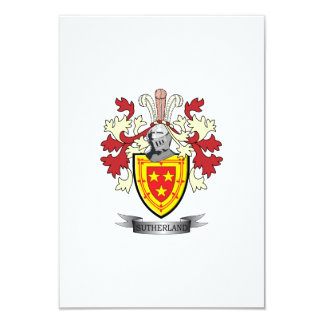 Sutherland Family Crest Coat of Arms Card