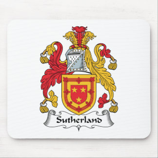 Sutherland Family Crest Mouse Pads