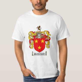 Sutherland Family Crest - Sutherland Coat of Arms T-Shirt