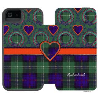 Sutherland Plaid Scottish tartan iPhone SE/5/5s Wallet Case