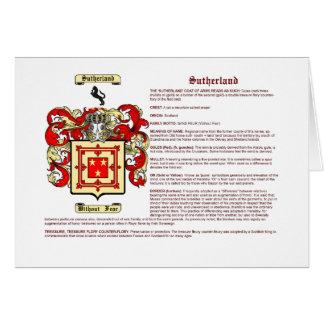 Sutherland (significado) tarjeta pequeña