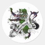 Sutherland Tartan Lion Classic Round Sticker