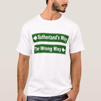 Sutherland's Way Street Sign Clan Shirt