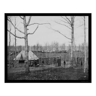 Sutler's Hut and Stockade of the NY Engineers 1864 Poster