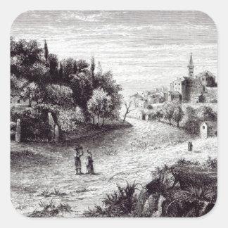Sutri and its Amphitheatre Square Sticker