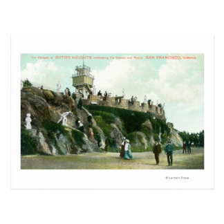 Sutro Heights Parapet Postcard