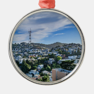Sutro Tower Metal Ornament