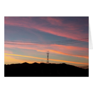 Sutro Tower Sunset, San Francisco Cards