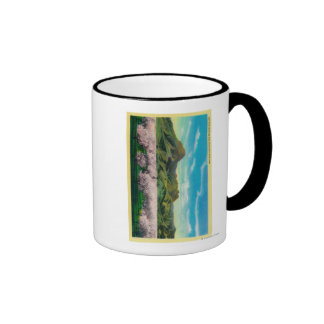 Sutter Buttes and Orchards in Bloom Coffee Mug