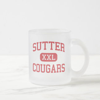 Sutter - Cougars - Middle - Folsom California Frosted Glass Coffee Mug