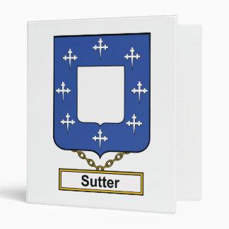 Sutter Family Crest 3 Ring Binders